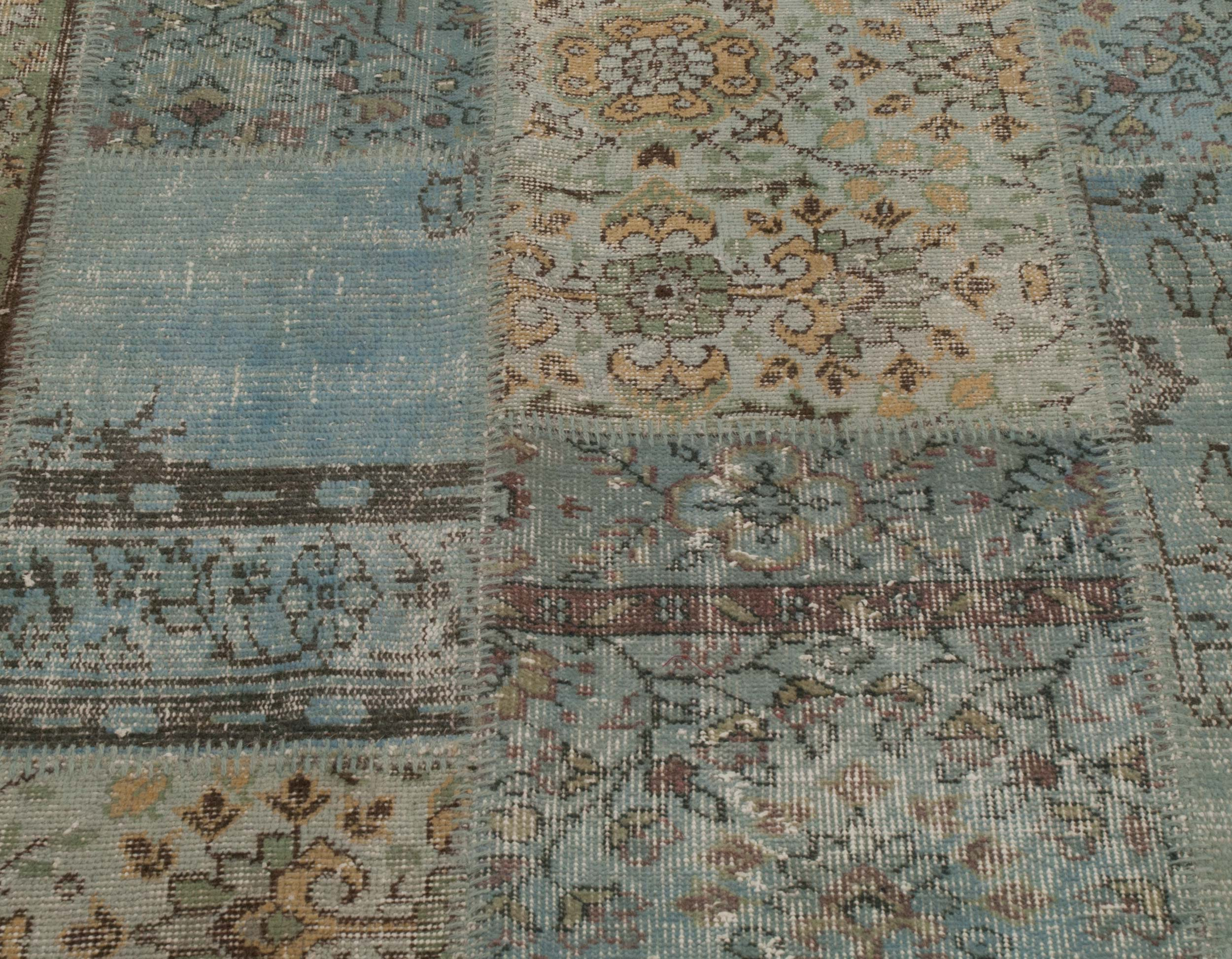 ... Picture Of Over Dyed Turkish Patchwork Rug ...