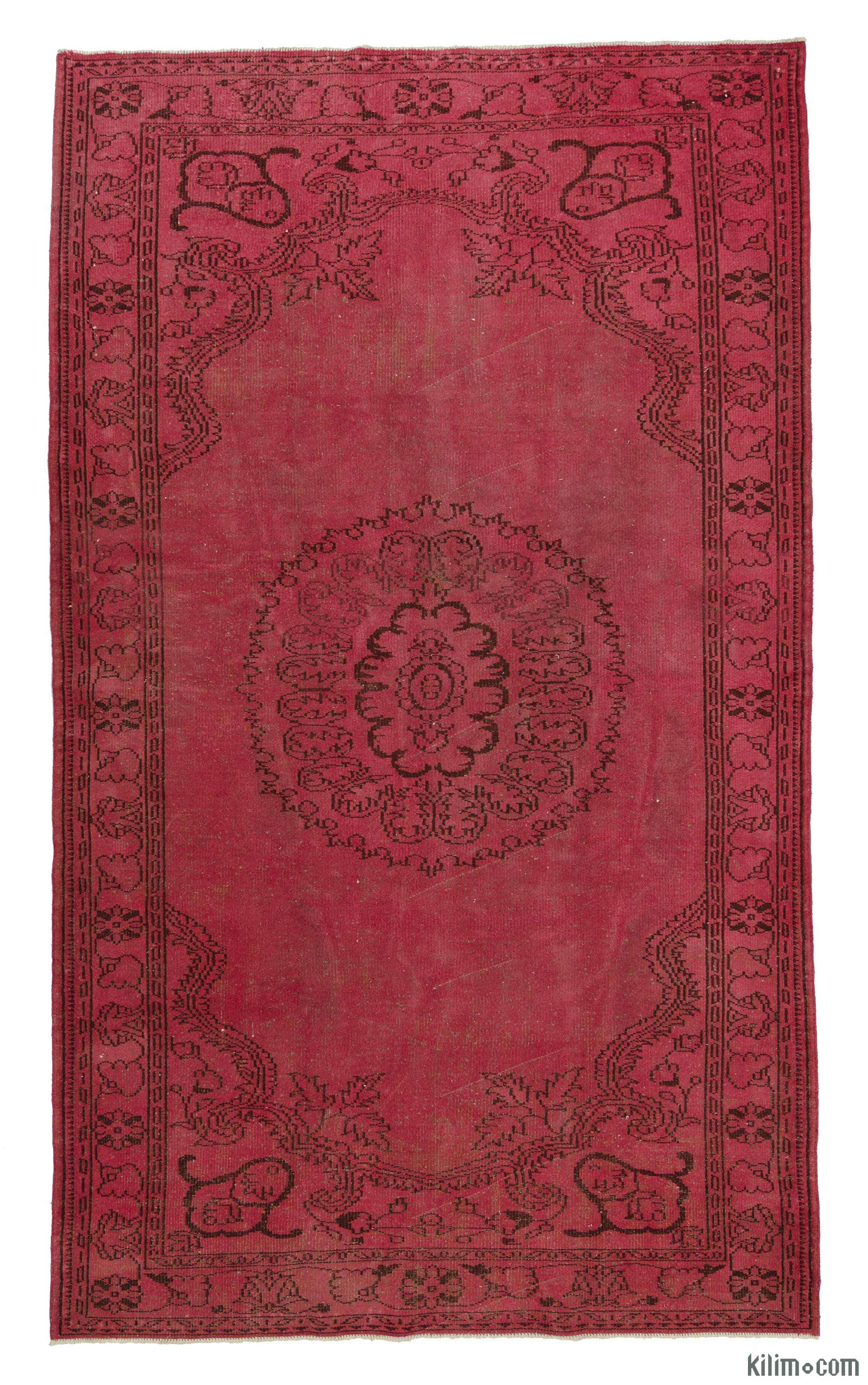 Overdyed vintage rug roselawnlutheran for Vintage style area rugs