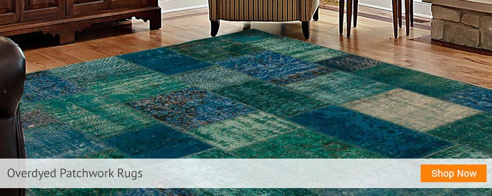 Overdyed Patchwork Rugs