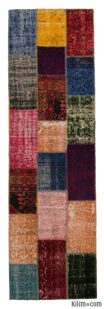 Picture of Over-dyed Turkish Patchwork Runner