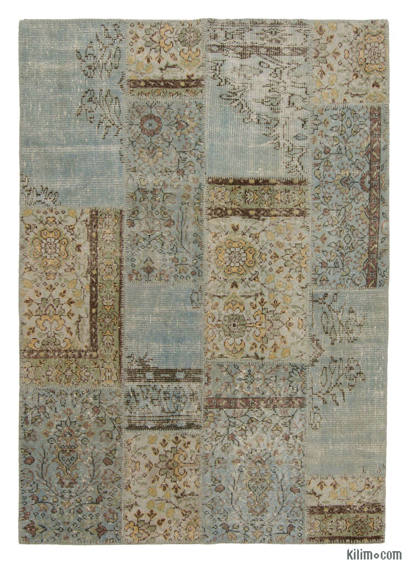 Picture Of Over Dyed Turkish Patchwork Rug