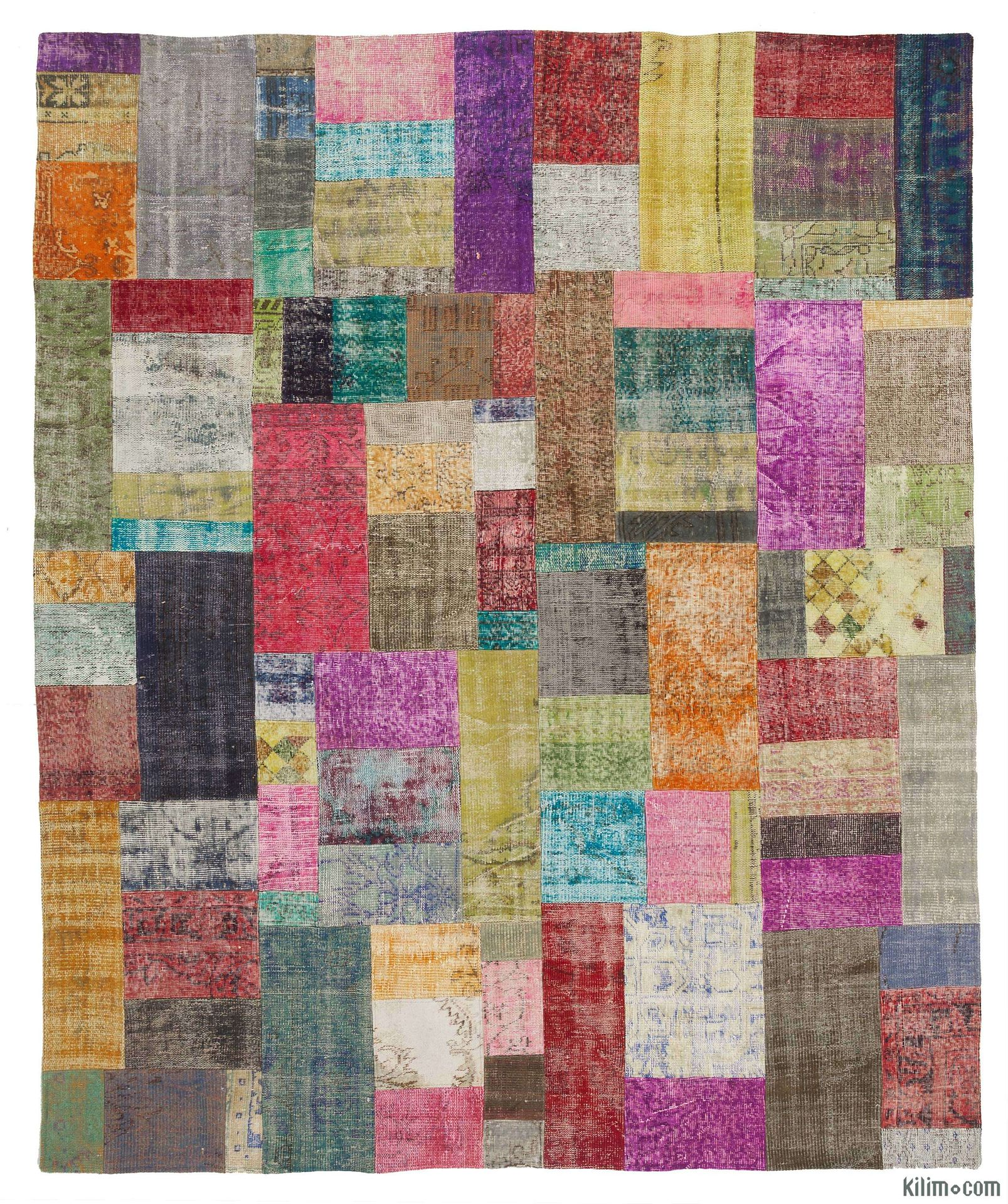 K0010675 - Over-dyed Turkish Patchwork Rug. Overdyed Vintage Rugs ... : quilt rugs - Adamdwight.com