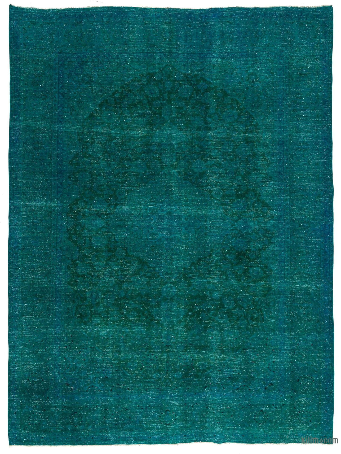 Picture Of Over Dyed Persian Vintage Rug